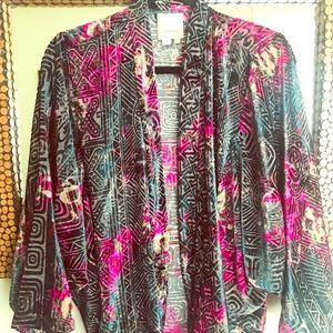 Velvet sheer kimono